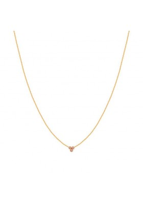 Collier Juliette - émail rose