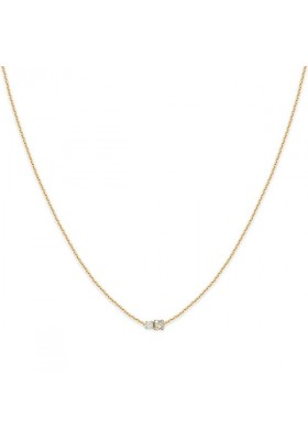 Collier court Amants - Blanc