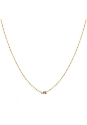 Collier court Amants - Rose