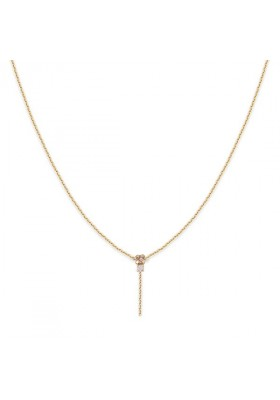 Collier pendant Amants -Rose