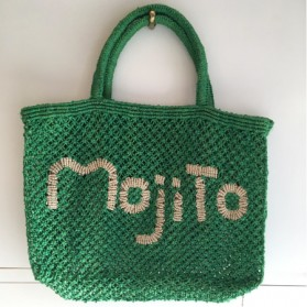 Cabas Jute Mojito Vert et Naturel