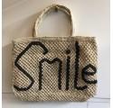 Cabas Jute Smile Naturel et Noir