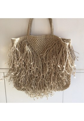Cabas Jute Tassel Naturel par The Jacksons