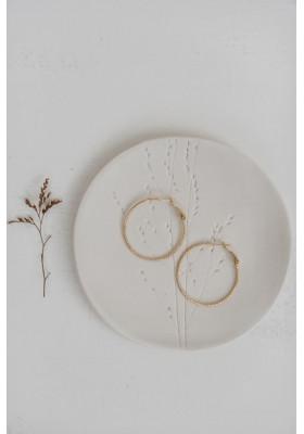 Créoles ciselées BOO  - 3 cm
