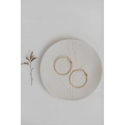 Créoles ciselées BOO  - 6 cm