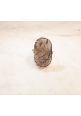 Bague ovale - Labradorite