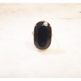 Bague ovale - Onyx noir
