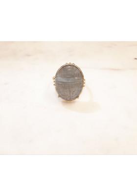 Bague Scarabée - Labradorite