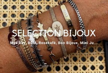 Sélection de bijoux par Boo Bijoux : des merveilles comme Mya Bay, Rosekafé, Mini Ju