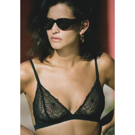 Soutien gorge Triangle Susana Noir par icone lingerie