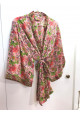 Sélection Boo - Kimono Court- Rose Fleurs