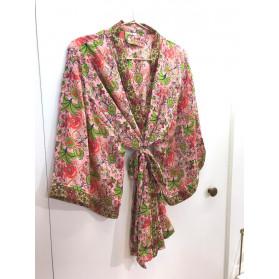 Kimono Court Rose Fleurs