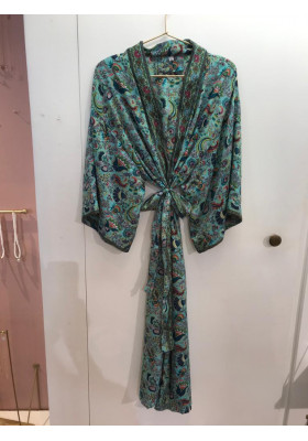 Sélection Boo - Kimono Long- Bleu Paon