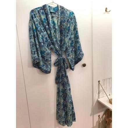 Sélection Boo - Kimono Long- Bleu Fleurs