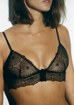 Soutien gorge Bustier Paola noir  Icone lingerie