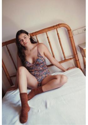 Body Lylia Charcoal Bohemian Flowers- Louise Misha