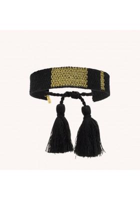 Boo Bijoux - Mya Bay - Bracelet Kilim Black