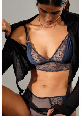 Boo Bijoux- Icone Lingerie- Culotte Violette Bleu