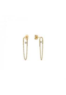 Petites boucles d'oreilles Colette - cristal