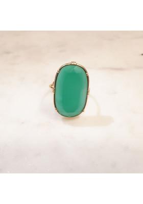 Bague ovale - Onyx vert