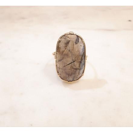 Bague ovale - Labradorite - grand modèle