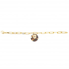Bracelet acétate marron Eclat