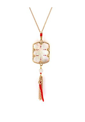 Collier Timor - Nacre blanche - Rouge