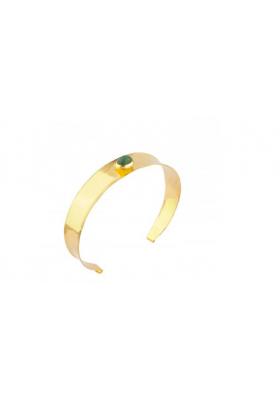 Bracelet jonc martelé Tenerife - Aventurine - vert