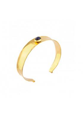 Bracelet jonc martelé Tenerife - Lapis Lazuli - bleu