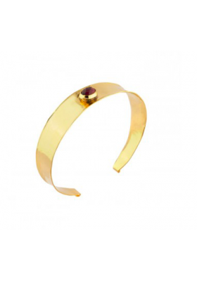 Bracelet jonc martelé Tenerife - Grenat - rouge