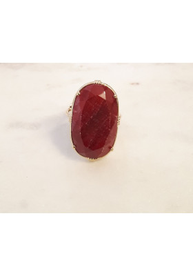 Bague ovale - Racine de rubis
