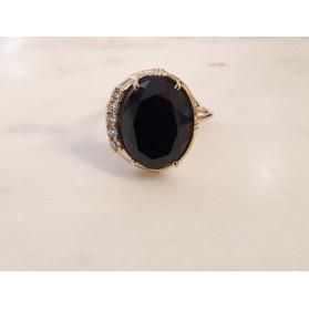 Bague Zircon - Spinelle Noire