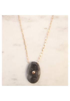 Collier Médaillon Arizona GM - Labradorite