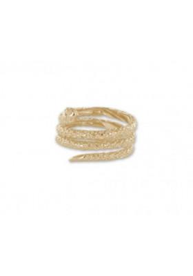 Bague serpent enroulé - plaqué or
