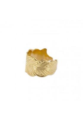 Bague Feuille - plaqué or