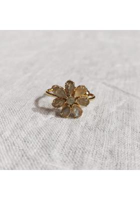 Bague Fleur - Labradorite