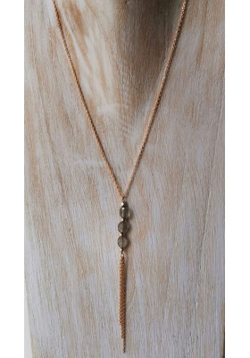 Collier 3 pierres - Labradorite