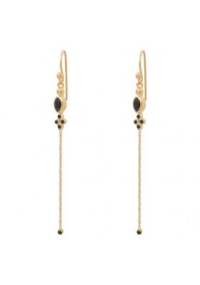 Boucles d'oreilles Marquise Onyx noir