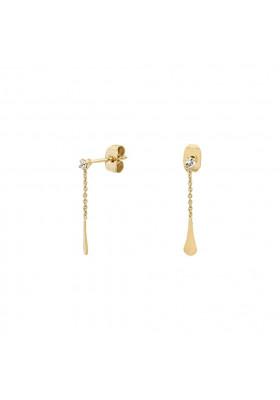 Boucles d'oreilles chaînes Charlotte - Cristal