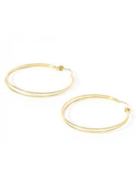 Boucles d'oreilles dorées créoles doubles Chloé par BDM Studio