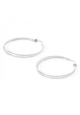 Boucles d'oreilles créoles doubles Chloé Argent par BDM studio
