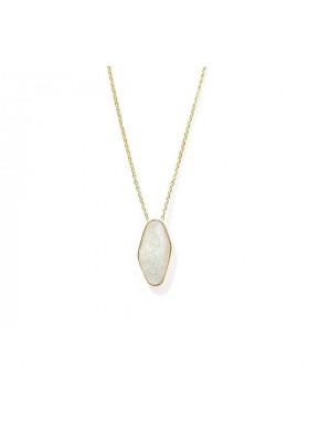 Collier Agathe email silver par bdm studio
