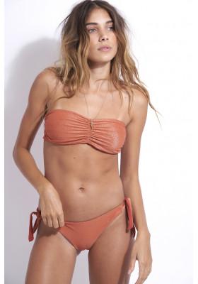 Haut de maillot de bain bandeau réversible Julie Terre Lurex par beliza